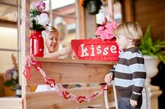 Valentine's Day Photo Shoot #valentine #kissing booth