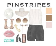 """Pinstripes"" by coloredcashton on Polyvore featuring STELLA McCARTNEY, Topshop, Nine West, Victoria Beckham, Cynthia Rowley, Betsey Johnson, Gianvito Rossi, Stella & Dot, Lime Crime and Bobbi Brown Cosmetics"
