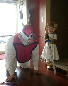 Best Costume Ever! She-Ra and her trusted sidekick, Swift Wind - Halloween Costume Contest via She Ra Costume, Costume Works, Cosplay Costumes, Halloween Costume Contest, Creative Halloween Costumes, Halloween Party, Costume Ideas, Daddy Daughter Dance, To My Daughter