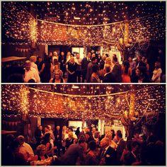 Fairy lights - rustic barn wedding - Boomerang golf course and farm