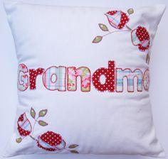 PERSONALISED NAME CUSHION / pillow. by SARAHANNSACCESSORIES, £39.50