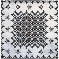 """""""Stormy Evolution"""" pattern by Susan Varanka. In: Beautiful in black and white at Quilt Inspiration"""