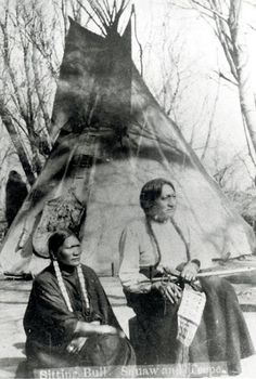 SITTING BULL & wife SEEN BY HER NATION, Hunkpapa (1882).