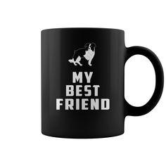 Border Collie  My best friend - B Collie - My best friend funny mug  #Border Collie #Border Collieshirts #iloveBorder Collie # tshirts