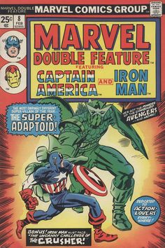 Marvel Double Feature #8, February 1975, cover by Jack Kirby and Frank Giacoia