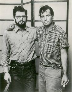 Alan Ginsberg & Jack Kerouac. The Godfathers of The Beat Generation.