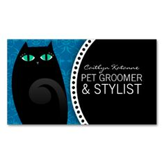 Personalized cards business cards and calling cards on for A perfect pet salon