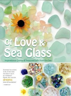 Love and Sea Glass Coffee Table Book. Photography Gift Idea. Featured on BBL: http://beachblissliving.com/coffee-table-books/