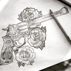 awesome Top 100 Guns Tattoos - http://4develop.com.ua/2016/01/30/top-100-guns-tattoos/ Check more at http://4develop.com.ua/2016/01/30/top-100-guns-tattoos/