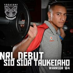 Congratulations to Sio Siua Taukeiaho for making his Vodafone Warriors debut against the St George Dragons, becoming Warrior 184.