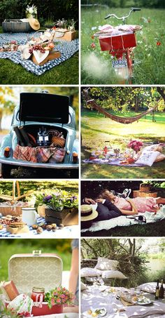 I love picnics. Eating outdoors is the best.