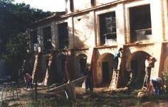 """Pelicula """"La Celestia"""". Construcción de contrafuertes ficticios en el Monasterio de Lupiana. www.troppovero.com"""