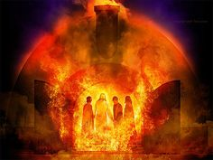 Miracle Angel - from The Fiery Furnace with Shadrach, Meshach, and Abednego (Dan Sadrac Mesac Y Abednego, Fiery Furnace, Bible Pictures, Prophetic Art, Biblical Art, Son Of God, Bible Art, Lds Art, Bible Stories