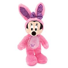 Disney Minnie Mouse Plush Bunny - 17'' - Pink | Disney StoreMinnie Mouse Plush Bunny - 17'' - Pink - You'll hear peeps of joy from your little chickadee while she cuddles our soft plush Minnie in furry pink bunny suit, infused with a marvelous marshmallow scent!