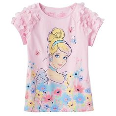 Disney's Cinderella Floral Tee by Jumping Beans®