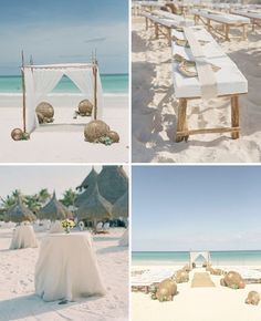 a rustic beach wedding by the style files, via Flickr
