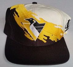 Pittsburgh Penguins Snapback Vintage Logo Athletic Splash Hat NHL Rare Crosby Pittsburgh Penguins, Snapback Hats, Nhl, Old School, Baseball Hats, Athletic, Logo, Vintage, Products
