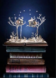 Su Blackwell - book sculpture