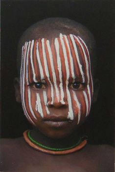 Africa | People of the Omo Valley © Hans Silvester: Tribes Of The World, People Of The World, Mens Face Paint, Africa Drawing, Tribal Face Paints, Africa Flag, Afrique Art, Africa People, African Colors