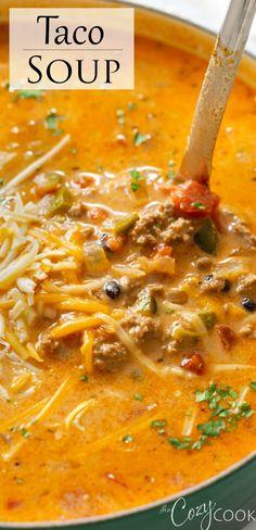 Mexican Soup Recipes, Easy Soup Recipes, Chili Recipes, Crockpot Recipes, Dinner Recipes, Cooking Recipes, Chili Soup Recipe Beef, Taco Soup Recipe Easy Crock Pot, Crockpot Recipe With Ground Beef