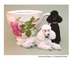Kerri Pajutee Miniature Animals ~ Standard Poodles