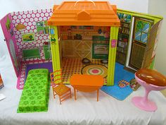 Vintage 1973 Barbie Country Living House and Furniture