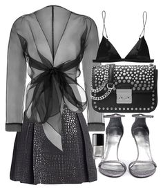 """""""Untitled #20671"""" by florencia95 ❤ liked on Polyvore featuring Romeo + Juliet Couture, Bianca Elgar, MICHAEL Michael Kors, Stuart Weitzman, T By Alexander Wang and Chanel"""