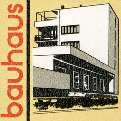 This canvas print is an East German 5 pfennig postage stamp from 1980. The Bauhaus school was founded by Walter Gropius in the city of Weimar in 1919. The Konsumgebäude pictured here was designed by Gropius and built in Dessau in 1928 where the school was located from 1925-1932. While the school attracted the best artistic talent of the day it was condemned as degenerate art created by social liberals and was forced by the Nazi party to close its doors in 1933. The face of this canvas…