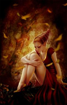 Autumn pixie by Sue Marino