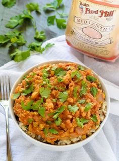 Slow Cooker Red Lentil Curry with Cauliflower