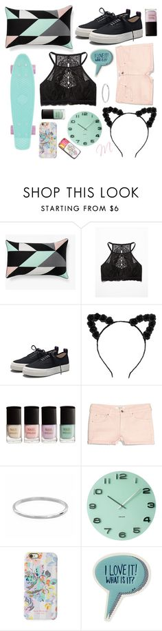 """""""pastel fun!"""" by moria801 ❤ liked on Polyvore featuring Free People, Eytys, H&M, MANGO, Sterling Essentials, Karlsson, Isaac Mizrahi and Anya Hindmarch"""