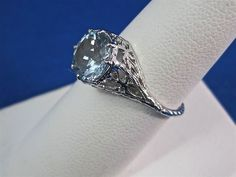 Do you love aquamarines as much as I do?  They are perhaps one of my very favorite stones.  This exquisite ring would make a wonderful engagement