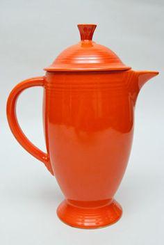 Fiesta Vintage Red Coffepot Radioactive Fiestaware For Sale