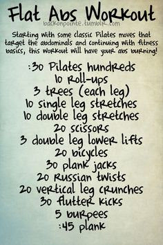 PIlates Stomach Workout