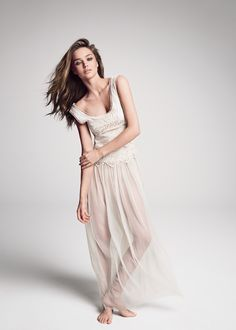 MANGO - CLOTHING - Dresses - Maxis - Tulle and crochet long dress