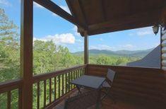 Private Balcony off the Upper Level King Suite Blue Ridge Cabin Rentals, Georgia Cabin Rentals, Blue Ridge Mountains, Mountain View, Lodges, Balcony, Luxury, King, Interior