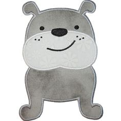 Cute Bulldog Applique