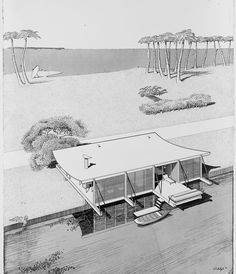 MLMR Classical Architecture: The Cocoon House, 1948. MLMR Architects