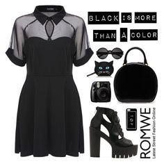 """Romwe 2"" by scarlett-morwenna ❤ liked on Polyvore featuring Simone Rocha, Kate Spade and Yves Saint Laurent"