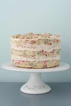 A homemade Momofuku Milk Bar cake...I have no idea what that is but I'd eat it!