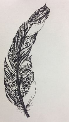 intricate feather tattoo - Google Search