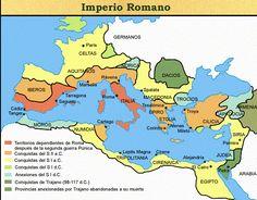 Mapa del imperio romano.