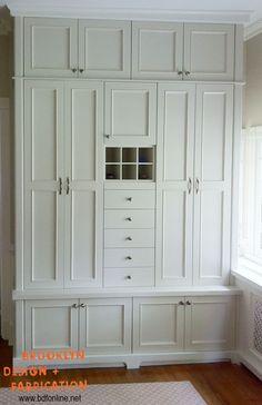 Brooklyn Design and Fabrication, Inc., Custom Designed Living Room Cabinetry, Private Residence, Pelham, New York