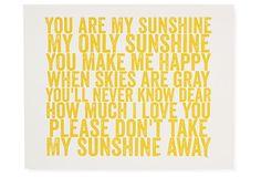 Yellow Weathered Sunshine on OneKingsLane.com