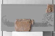 The dedications on the Acropolis in classical times | Acropolis Museum.  Dedication with a representation of a trireme (Lenormant relief) The ship Paralos with its commander and oarsmen. The Paralos was a state trireme and participated in sacred and state missions. It was named after the hero Paralos, the inventor of navigation, who is shown at top right. Late 5th cent. BC (Acr. 1339)