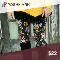 SOFT Floral Print Leggings * COMING SOON Adorable and super soft floral brushed knit leggings.   One size fit (2-12/14)  92% Polyester 8% Spandex  Pairs well with Mauve dolman sleeve top available in seperate listing.   Arrives Wednesday, like or comment for notifications. Infinity Raine Pants Leggings