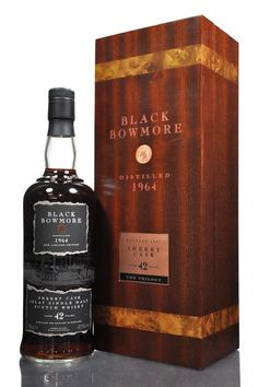 Bowmore Black 42 year old 1964 is a very rare single malt from the Islay Distillery. This single malt has been matured in Oloroso sherry casks and is part of a limited release of just 827 bottles.