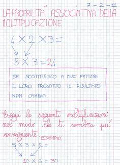 Didattica Scuola Primaria: La proprietà associativa della moltiplicazione Bullet Journal, Education, Math, Classroom, Math Resources, Teaching, Training, Educational Illustrations, Early Math