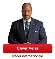 """Oliver Vélez, fondatore di Pristine e specialista in analisi tecnica.  Soprannominato dall'agenzia Dow Jones come """"il Messia del Trading"""", è uno dei relatori più conoscuti sullo scenario internazionale. Trader professionista, consulente, formatore e autore di veri e propri """"bestsellers"""" come """"Day Trading"""" e """"Strategie per vincere in ogni operazione"""". Oliver Vélez è il fondatore di """"Pristine"""", società leader negli Stati Uniti per la formazione dei traders in tutto il mondo."""