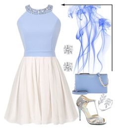 """Blue Heaven"" by stylewiktoria ❤ liked on Polyvore featuring Betsey Johnson and Henri Bendel"